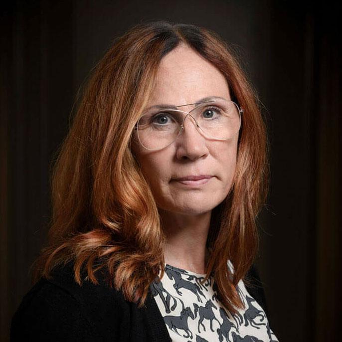 Porträtt Carina Vaksdal, samordnare/auktoriserad socionom. Barnahus Jämtlands län