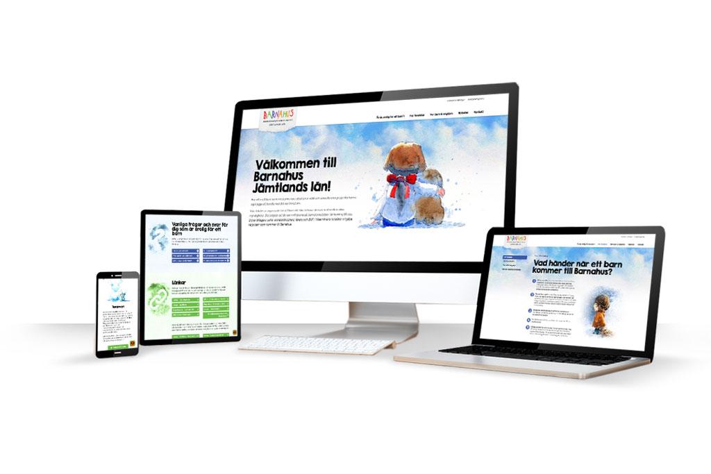 Barnahus jämtlands läns nya hemsida